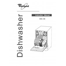 Whirlpool ADG 185 Dishwasher